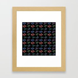 Robot Fish Pattern Framed Art Print