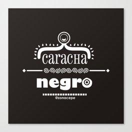 Caracha Negro Canvas Print