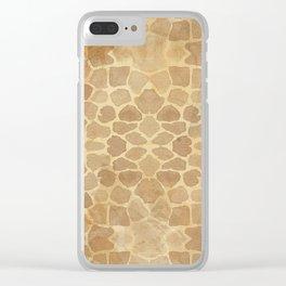 Vintage Giraffe Clear iPhone Case