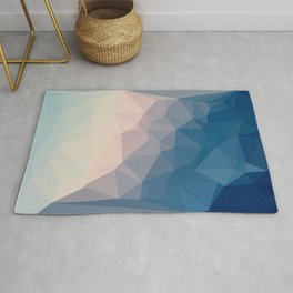 BE WITH ME - TRIANGLES ABSTRACT #PINK #BLUE #1 Rug