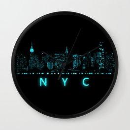 Digital Cityscape: New York City, New York Wall Clock