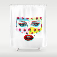 arabic Shower Curtains featuring Arabic  by Peonies