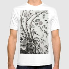 Peacock Tree Natural White Mens Fitted Tee MEDIUM