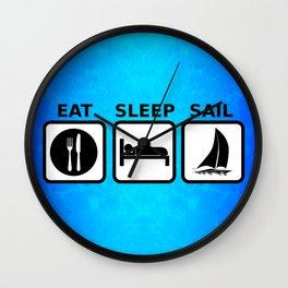 Eat Sleep Sail Wall Clock
