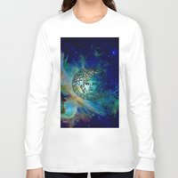 versace Long Sleeve T-shirts featuring Versace Nebula  by RickyRicardo787
