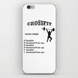 crossfit wod iPhone Skin