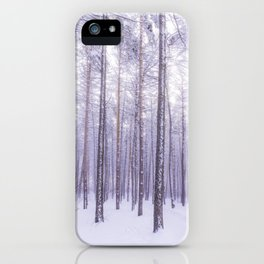 Snow in Trees iPhone Case