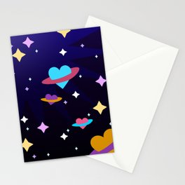Heart Planet Stationery Cards