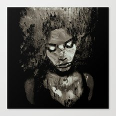 Melancholy and the Infinite Sadness Black and White Canvas Print