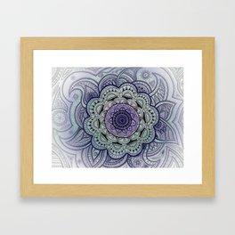 Mandala Violet Framed Art Print