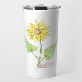 balsam root botanical illustration Travel Mug