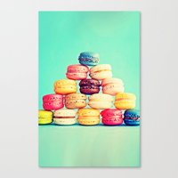macarons Canvas Prints featuring MACARONS by Ylenia Pizzetti
