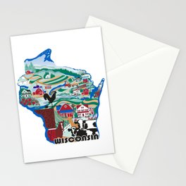 Wisconsin Country Sampler Stationery Cards