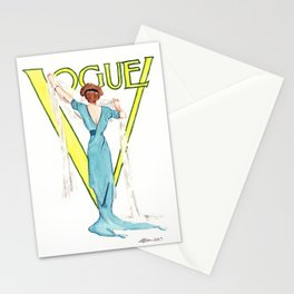 March 1911 Vintage Vogue Magazine Cover. Fashion Illustration Stationery Cards