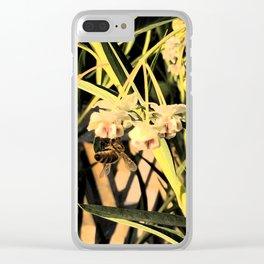 Pufferfish Milkweed & Bee Fresco Clear iPhone Case