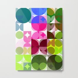 Rosas Moradas 4 Abstract Circles 3 Metal Print