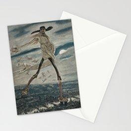 Satan Sowing Tares amid Seine & Paris - Satan sement l'ivraie by Félicien Rops Stationery Cards