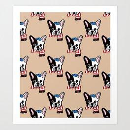 French Bulldog in Camel Baguette Art Print