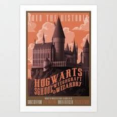 Tour Hogwarts  Art Print