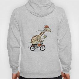 Giraffe on a motorbike eating a cheese sandwich... Hoody