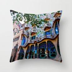 Casa Batllo: Barcelona, Spain Throw Pillow