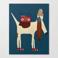 aelwen Canvas Prints featuring bootleg beagle  by bri.buckley