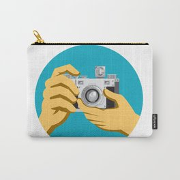 Retro 35mm Film Camera Clicking Carry-All Pouch