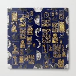 beautiful pagan themed tarot print Metal Print