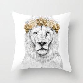 Festival lion (color version) Throw Pillow