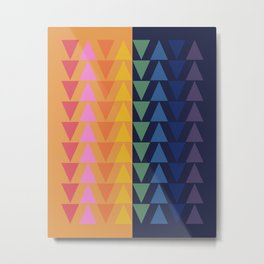 Day and Night Rainbow Triangles Metal Print