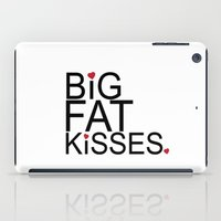 psych iPad Cases featuring big fat kisses, shawn and julia, psych by studiomarshallarts