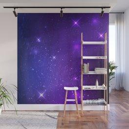 The Heavens Weep Purple Stars Wall Mural