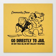 Community Chase Canvas Print