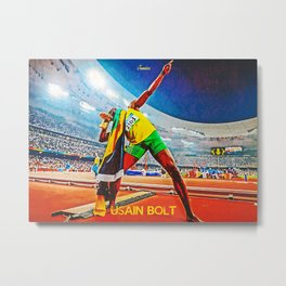 Usain Bolt Metal Print