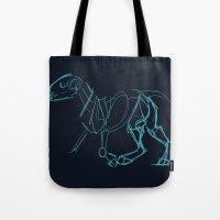 bull terrier Tote Bags featuring Bull Terrier by Tooel
