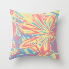 colorful blossoms Throw Pillow