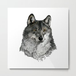Season of the Wolf - A Study in Pencil Metal Print