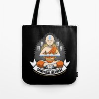 spiritual Tote Bags featuring Spiritual Retreat by adho1982