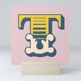 'The letter T' Design Motif Mini Art Print