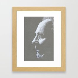 Old Man Drawing Framed Art Print