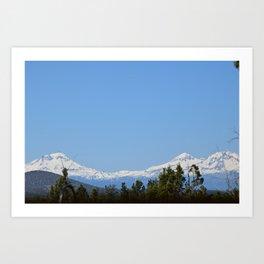 Three Sisters Mountains Art Print
