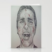 american psycho Stationery Cards featuring American Psycho by A.H.