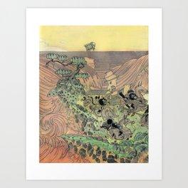 Mu Guai and the Tiger's Eye, Panel 3 Art Print