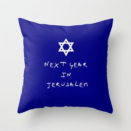 Next year in Jerusalem 7 Throw Pillow