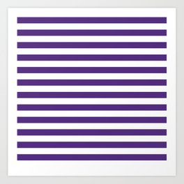 Purple and white university clemson alumni team sports football college Art Print