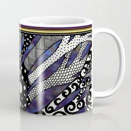 Blue Doodle Tree Coffee Mug