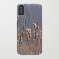 furry iPhone & iPod Cases featuring Furry Cattails by DanByTheSea