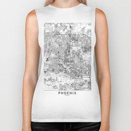 Phoenix White Map Biker Tank