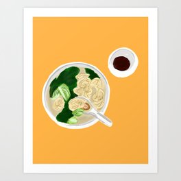 Wontons from my parents Art Print