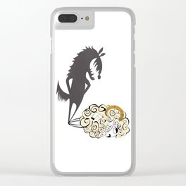 Shady Sheep Clear iPhone Case